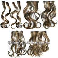 5a brazilian hair wholesale bobbi boss hair clip in curly hair extensions