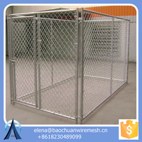 big Dog Use Metal Welded Chain Link Wire / Chainlink Gates and kennel
