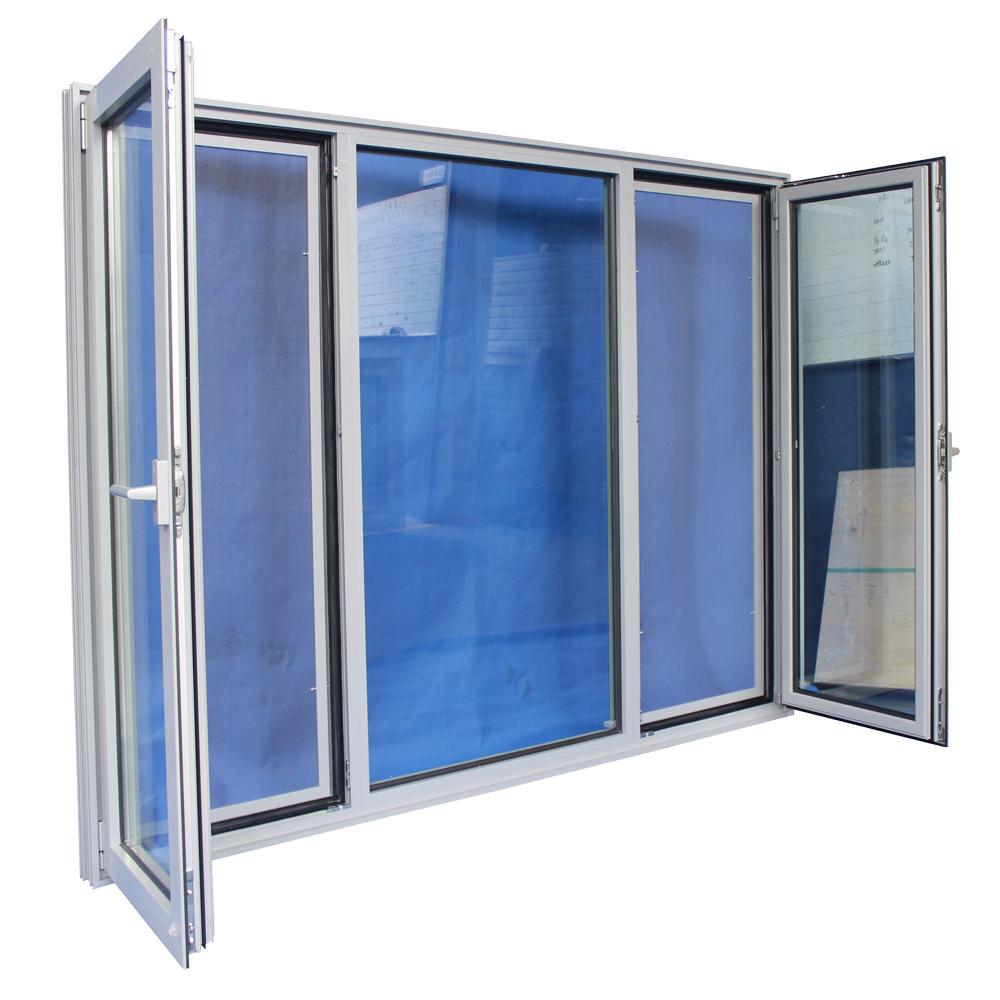 Residential windows three panel design aluminum high for Residential window design