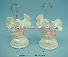 resin animal crafts, wedding ornaments, holy and pure dove