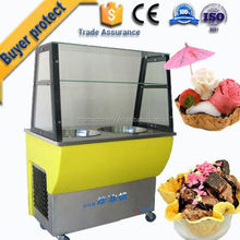 Large Capacity single pan rolled fry ice cream pan machine gold supplier