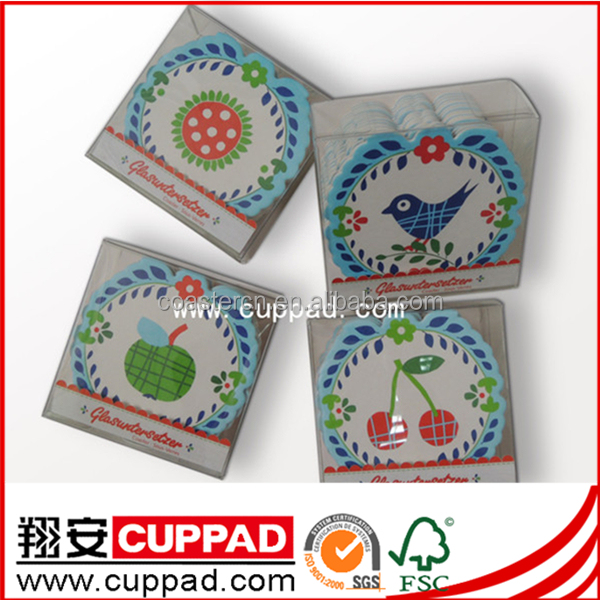 paper beer coaster pulpboard drink coasters with logo coaster packaging set