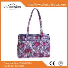 Hot sale cotton beautiful quilted pattern beach shopping bags manufacturers company