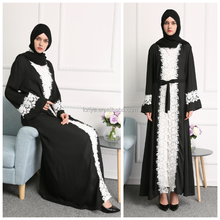 high quality nida fabric latest new model open muslim dubai abaya 2017 kimono
