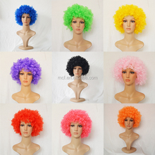 MCW-0113 Wholesale cheap supporter cheering Soccer football fans wig, afro twist wig theme party