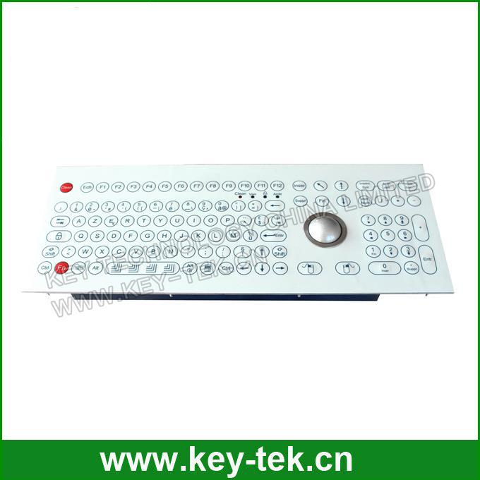 Scratch proof industrial membrane keyboard with trackball for beverage
