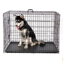 Galvanized Metal Dog Crate Portable Pet Kennel