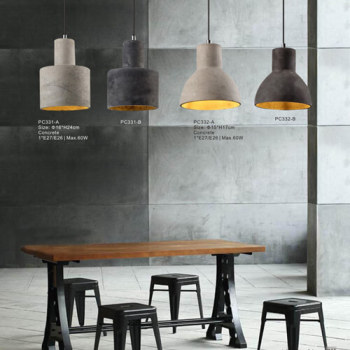 Concrete Chandelier Pendant Light Hot New Modern Vintage Indoor Outdoor