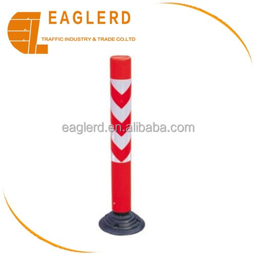 Reflective Traffic plastic round delineator bollards/warning post