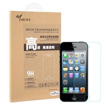 New 9H 2.5D Ultra Thin 0.33mm Tempered Glass Mobile Cell Phone Protective Film Screen Protector For iPhone5 5s Wholesale