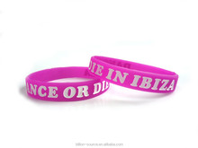 promotional silicone rubber college team bracelets with sayings