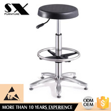 Shengxin furniture Esd chair Fire retardant pu injection foam seat /350 #201 stainless steel footring /aluminum base