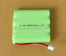 Ni-MH AAA rechargeable battery pack 4.8v 700mah