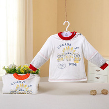 2017 new model thick warm cotton baby shirt new style baby winter shirt