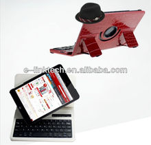 For New Apple Mini iPad Bluetooth Keyboard Leather Case/ Released Foldable Stand Case for Mini iPad