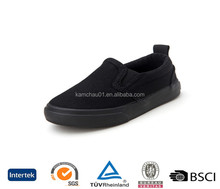 Beautiful stylish design black slip on without laces flossy wedge toddler canvas plimsolls shoes for ladies