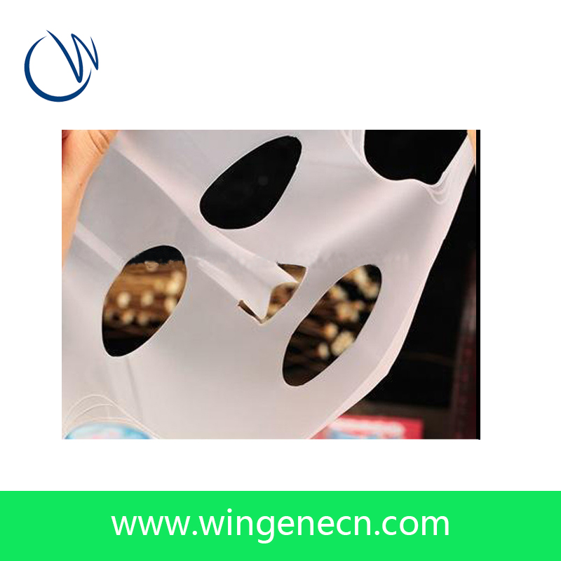 New silicone facial mask 100% natural silicone rubber silk facial mask sheet for mask making