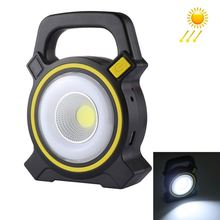 Outdoor Solar Energy COB Camping Light Handheld USB Rechargeable Tent Camping Light Emergency Work Light