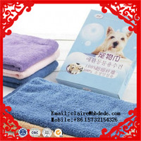 100% wholesale Organic cotton solid color hand hotel bath towels for pet