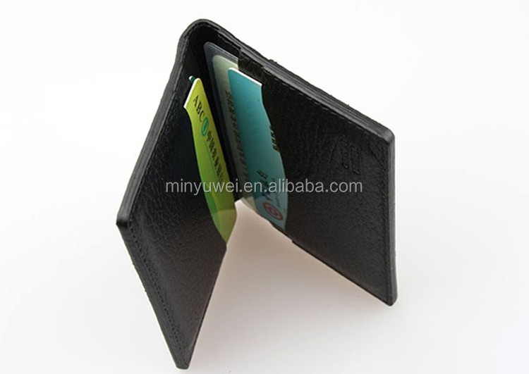 cheap leather cardholder gift customized for company promotion with 4 card slots