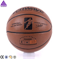 Best sell indoor/outdoor official size and weight Lenwave hygroscopic basketball ball