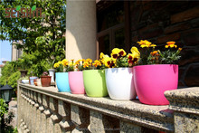 China Manufacturer Decorative Stackable Plastic Garden Flower Pots
