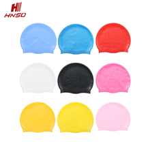 High quality OEM cheap custom logo printed colorful nude silicone waterproof adult swimming cap