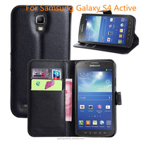 PU Leather Wallet Mobile Phone Case For Samsung Galaxy S4 Active