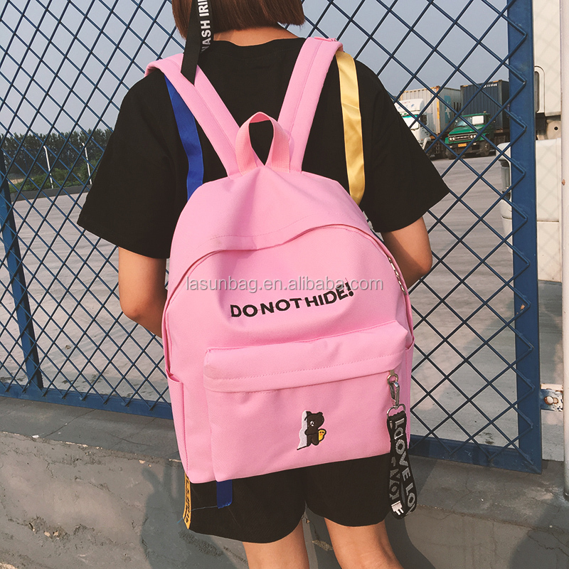 Cheap Factory Bulk Sale Smart Girls Canvas Cartoon Design Funny School Backpacks