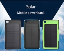 New arrival 10000 mah Solar Charger and Battery 10000mAh Solar Panel Dual Charging Ports portable power bank for All phone