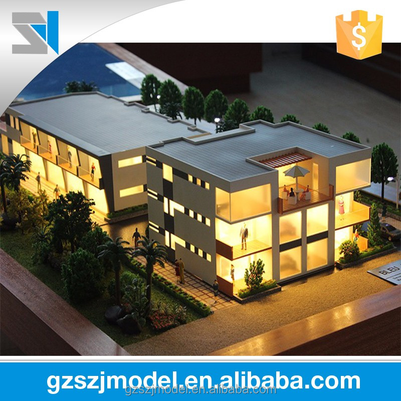 Construction building layout scale model making - real estate building model