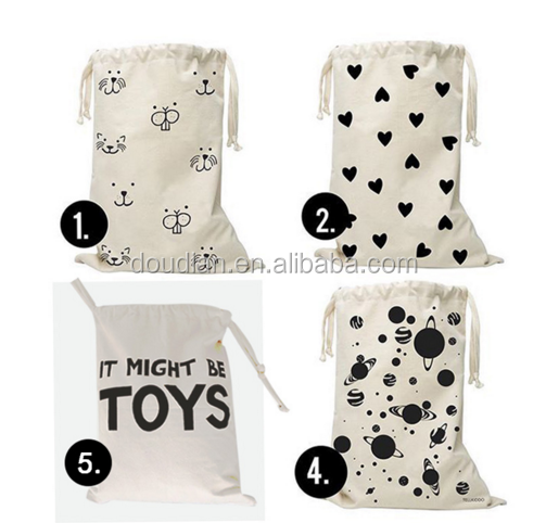 Laundry Bag laundry pouch Canvas Storage Bag for Toys Clothing
