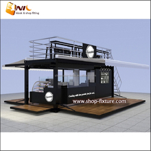 Foldable shipping container coffee shop and box retail store for sale