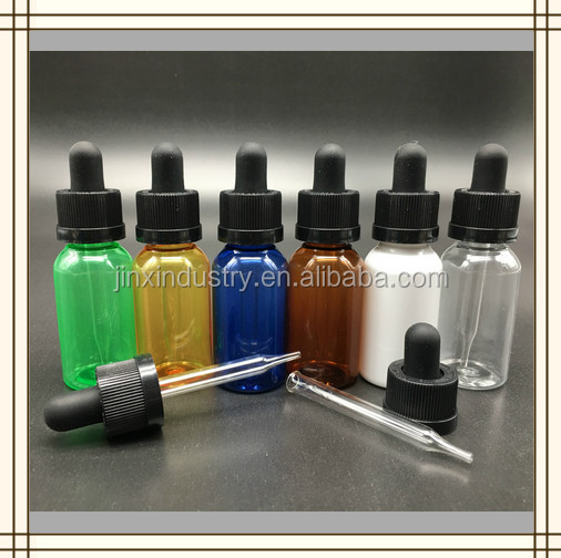 Hot sale new product glass pipette PET plastic e liquid bottles with childproof caps