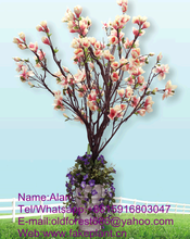 Old forest pastic decorative magnolia tree fake magnolia tree handmade magnolia tree for decoration
