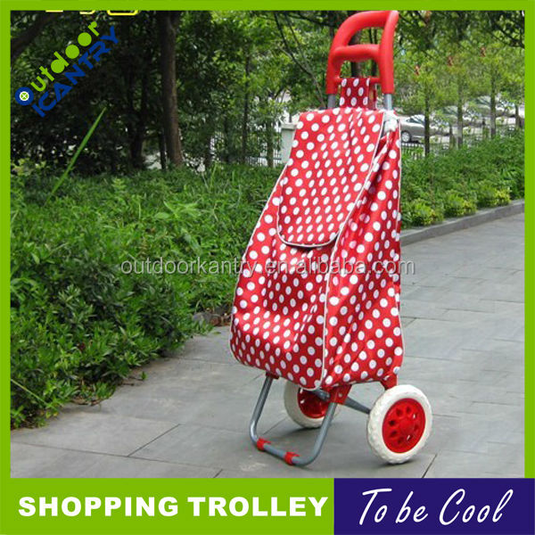 folding shopping trolley with two wheels shopping trolley bag---KG1004