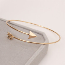 New Design Simple Originality Girls Rose Gold Plating Arrow Zinc Alloy Bangles Bracelet