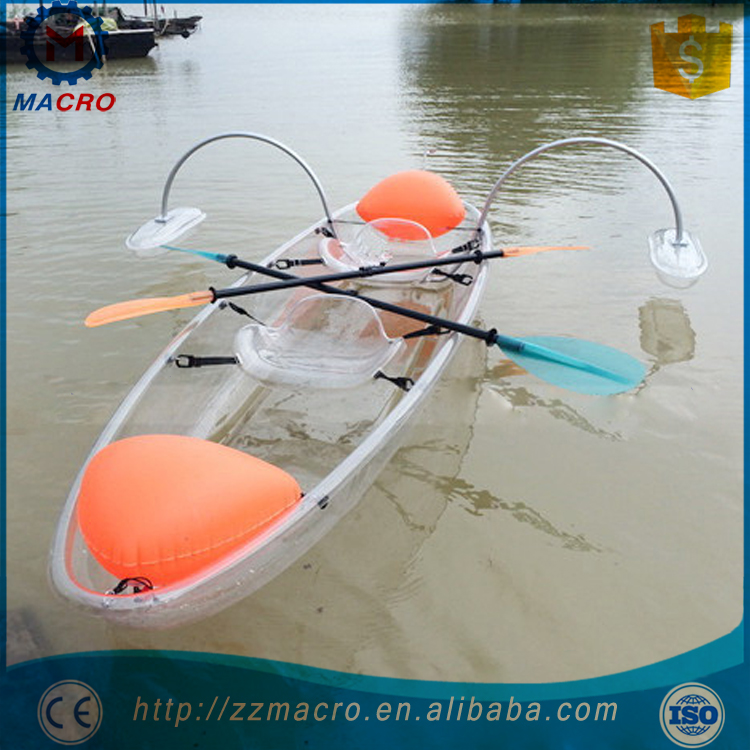 Cheap Plastic Fishing Clear Pc Kayak For Two Person