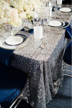 Black Silver Sequin Tablecloths,Customed Christmas Design, Embroidery Sequin Table Cloth/Linens for Sale
