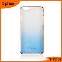 t-phox t-pc-08 gradient color changing electroplate PC phone case/back covers for mobile phones