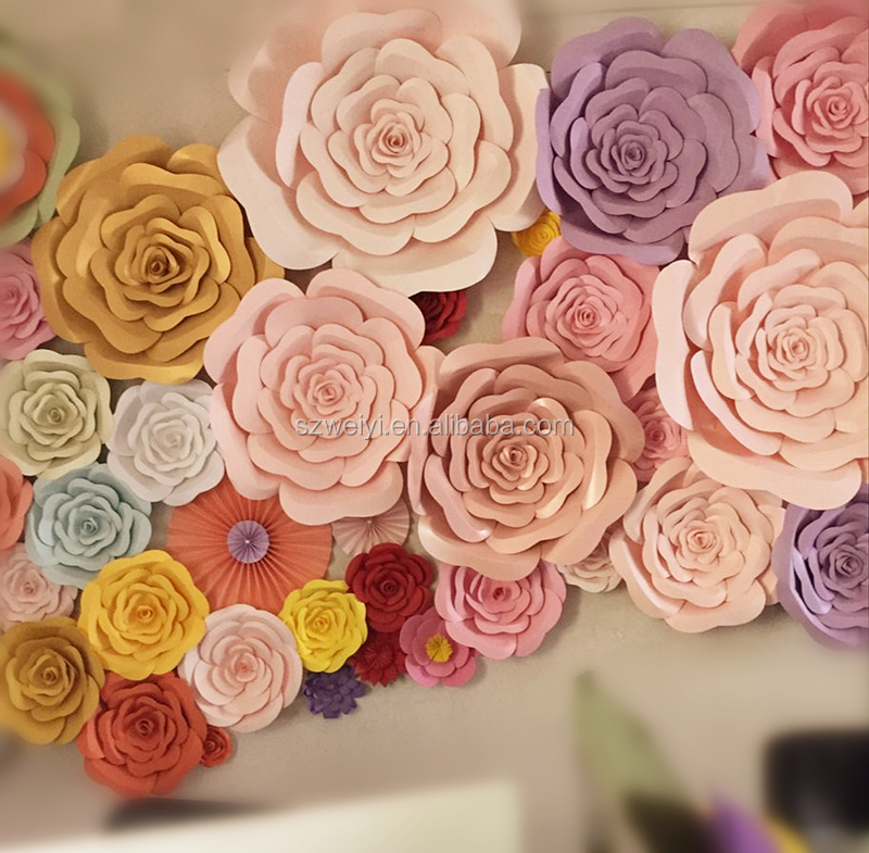 Gaint backdrop paper flower wall decoration artificial wedding decoration party decoration