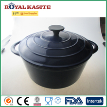 Eco-friendly Enamel coating cast iron double ears cookware