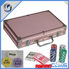 MLD-AB104 Pink Right Angle Professional Excellent Quality Aluminum Gambling Poker Chips Set