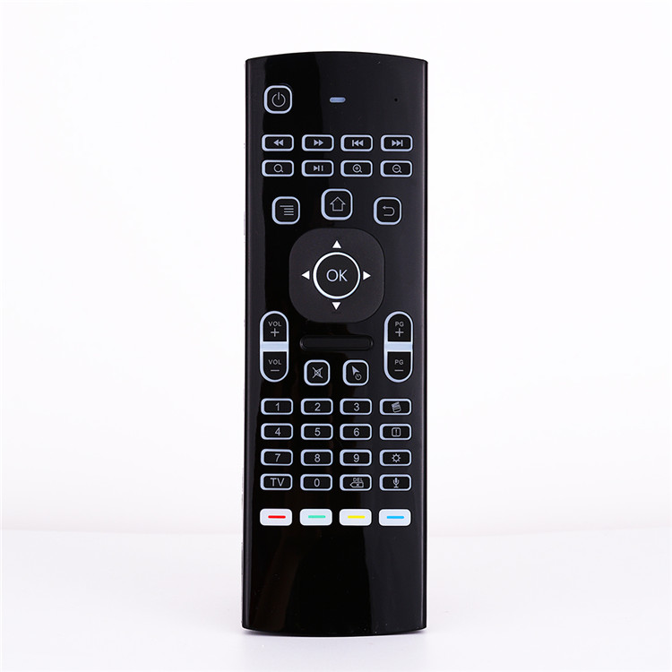 android tv box with keyboard MX3 backlit Touchpad air mouse With voice version