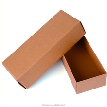 Custom hard brown paper carton box with window