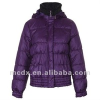 100% polyester women winter down coat with hood