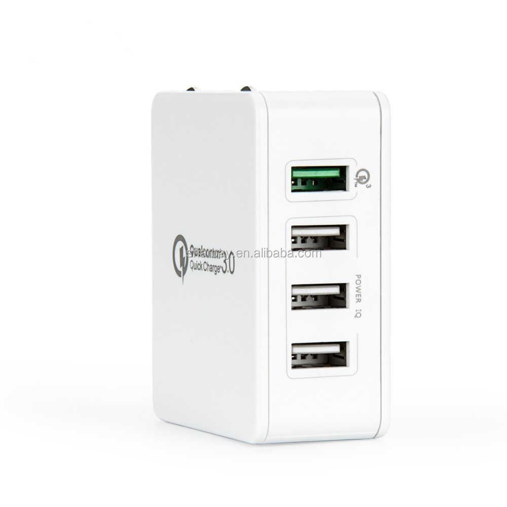 USB smart wall charger with 4 port QC3.0
