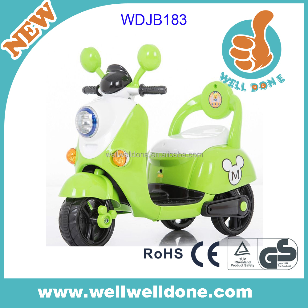 Popular design battery powered motorcycle for kids with music and led lights WDJB183