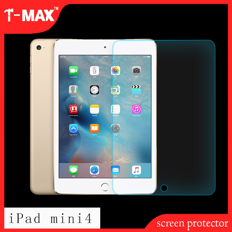 Factory Supply 2.5d High Clear Explosion-proof anti-fingerprint For ipad mini 4 Tempered Glass Screen Protector