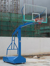 Portable Removable Basketball Stand with Glass Basketball Backboard